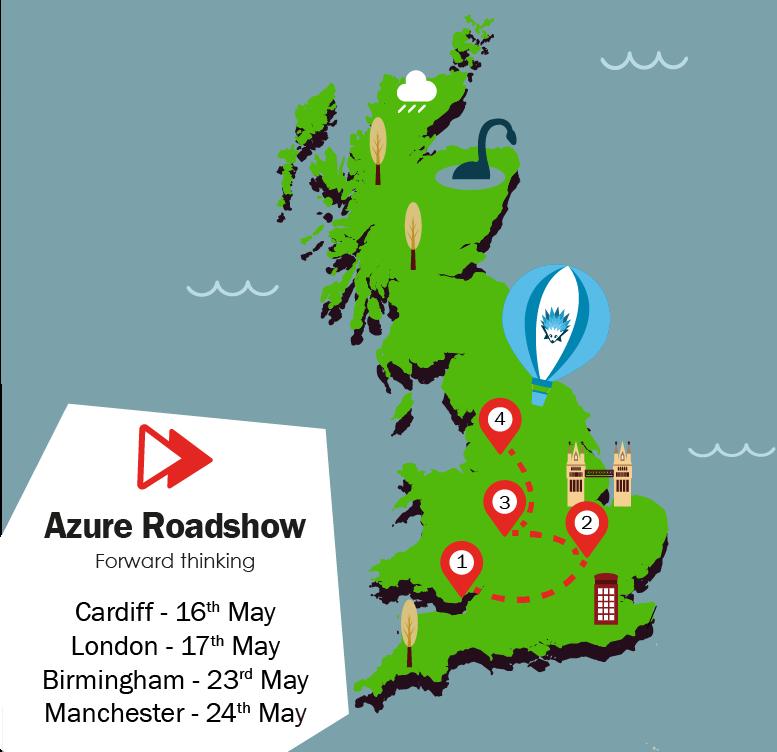 Azure Roadshow Map
