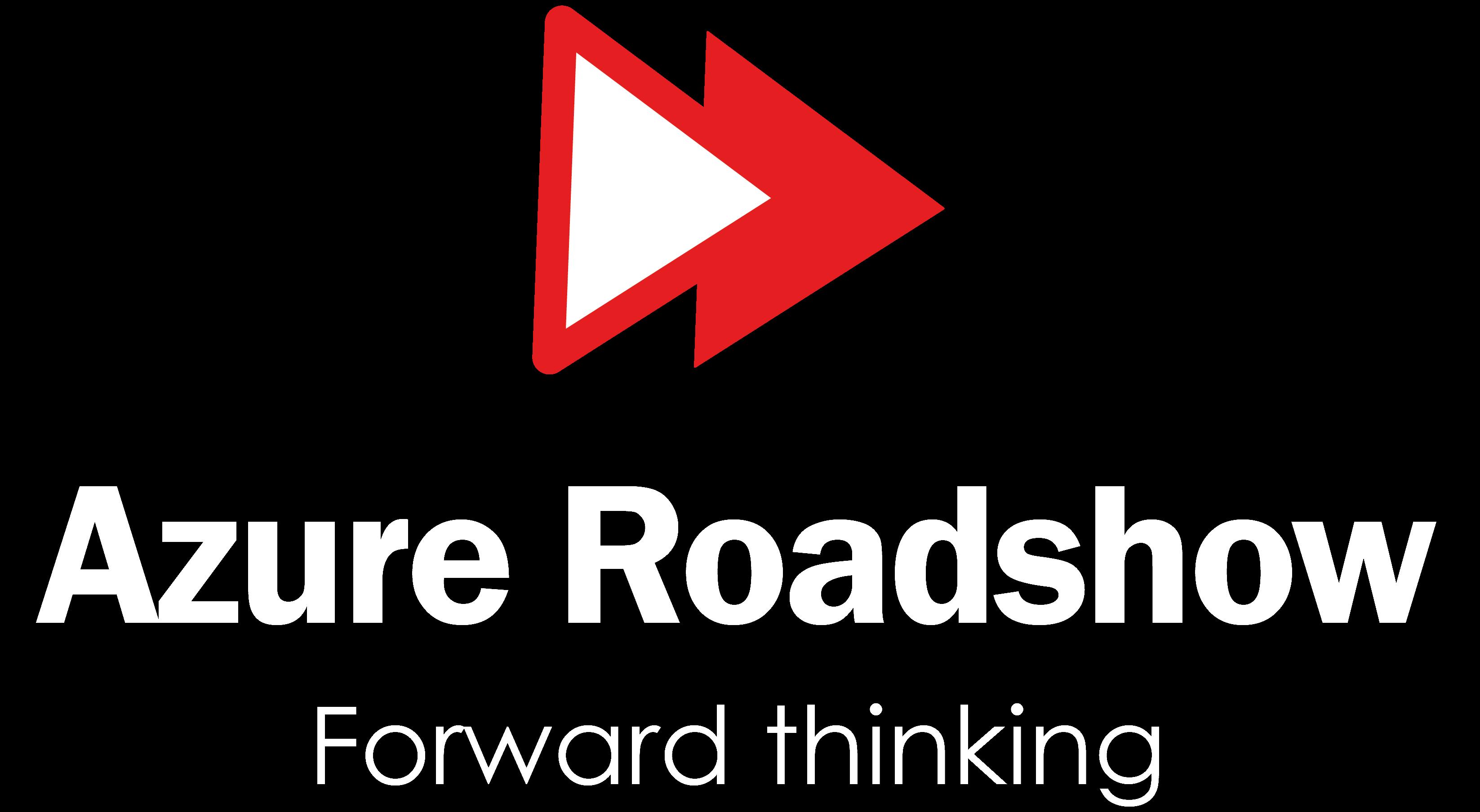 Azure roadshow logo - White Text
